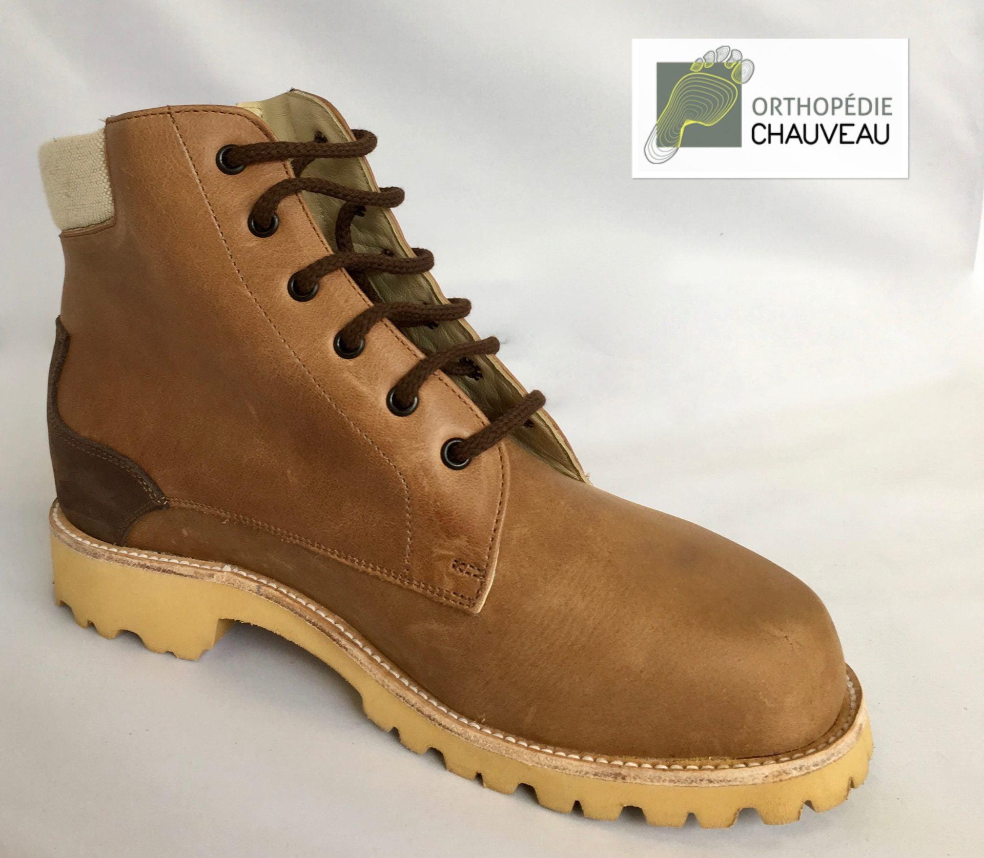 chaussures orthopédiques rennes bottines marron