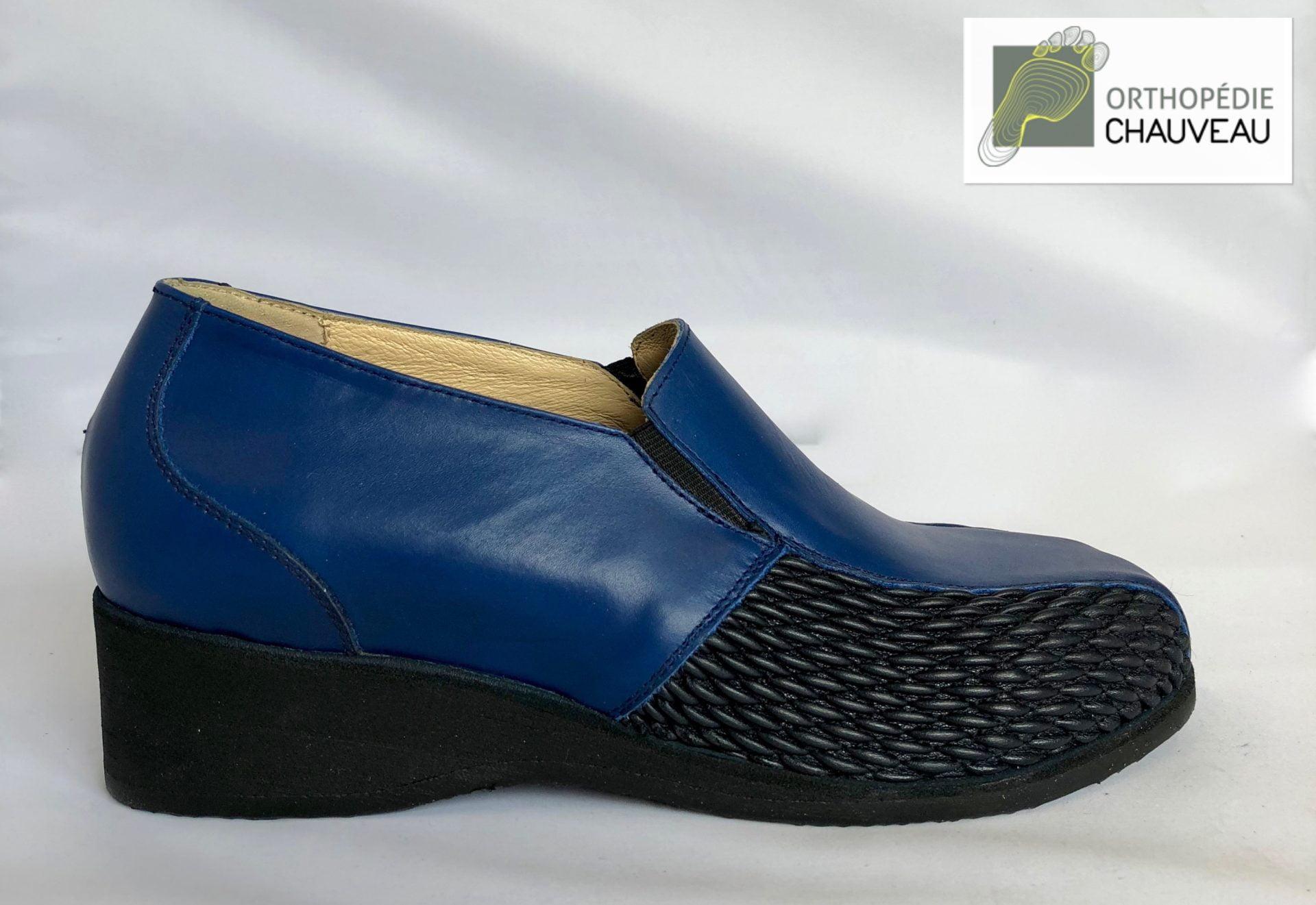 chaussures orthopediques Rennes basses bleu
