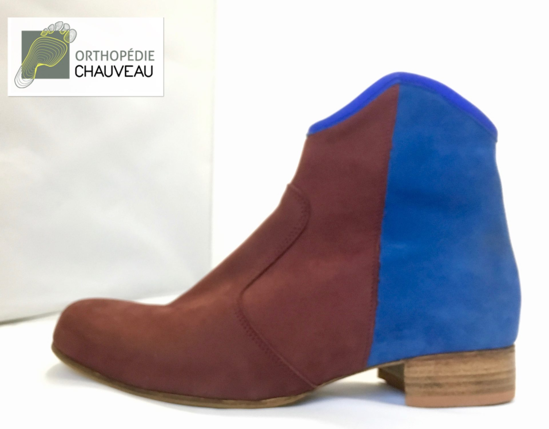 chaussures orthopediques Rennes bicolore bottines