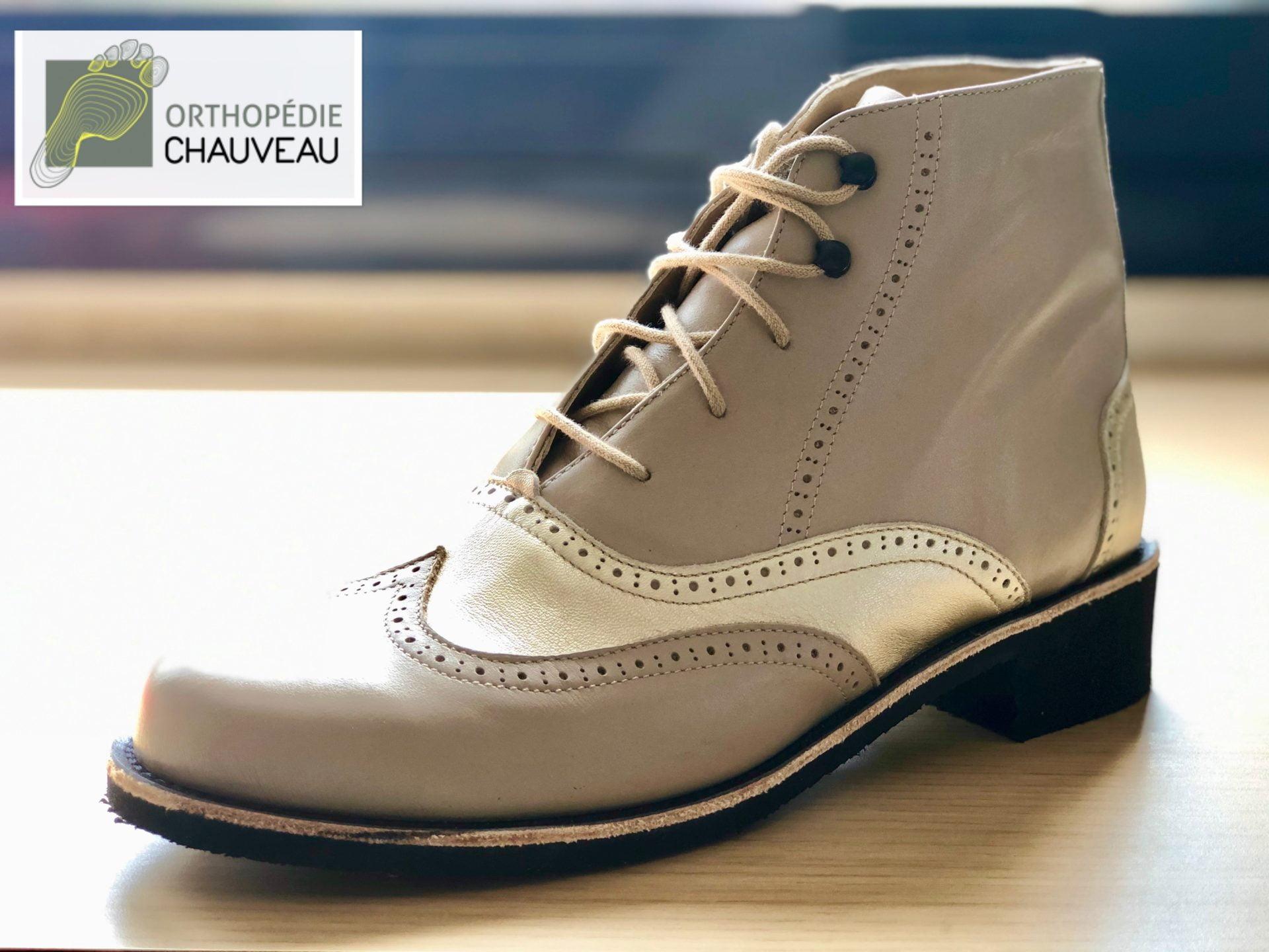 chaussures orthopediques Rennes bottines beige