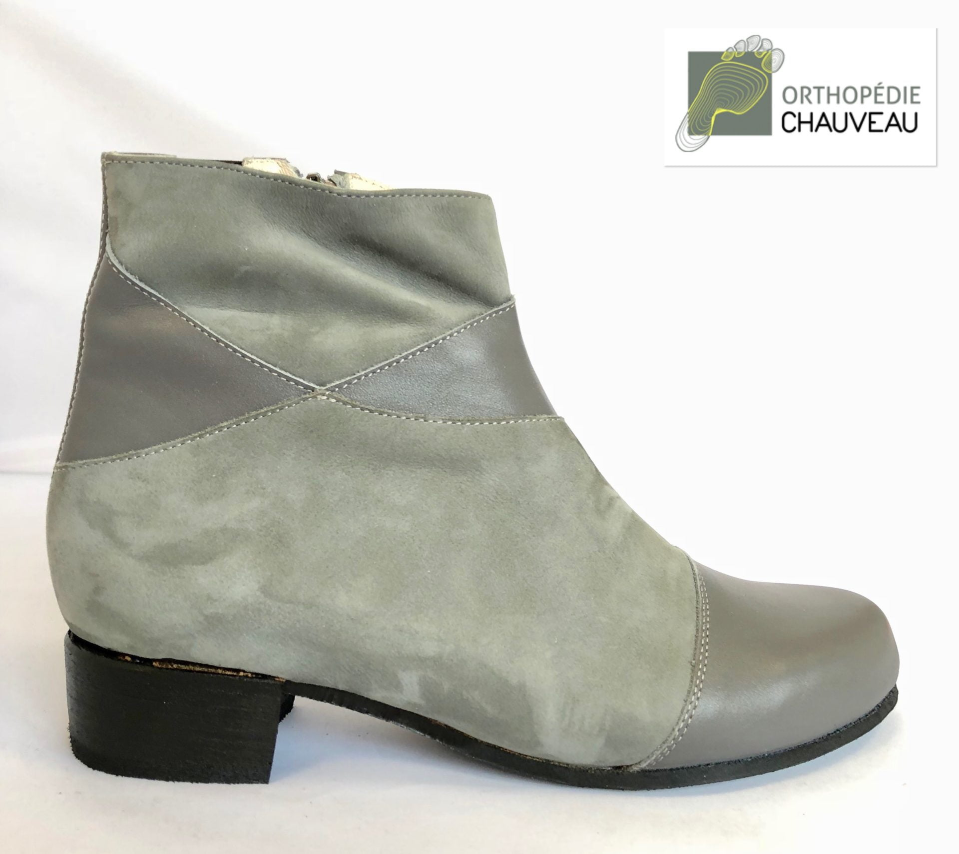 chaussures orthopediques Rennes bottines grise
