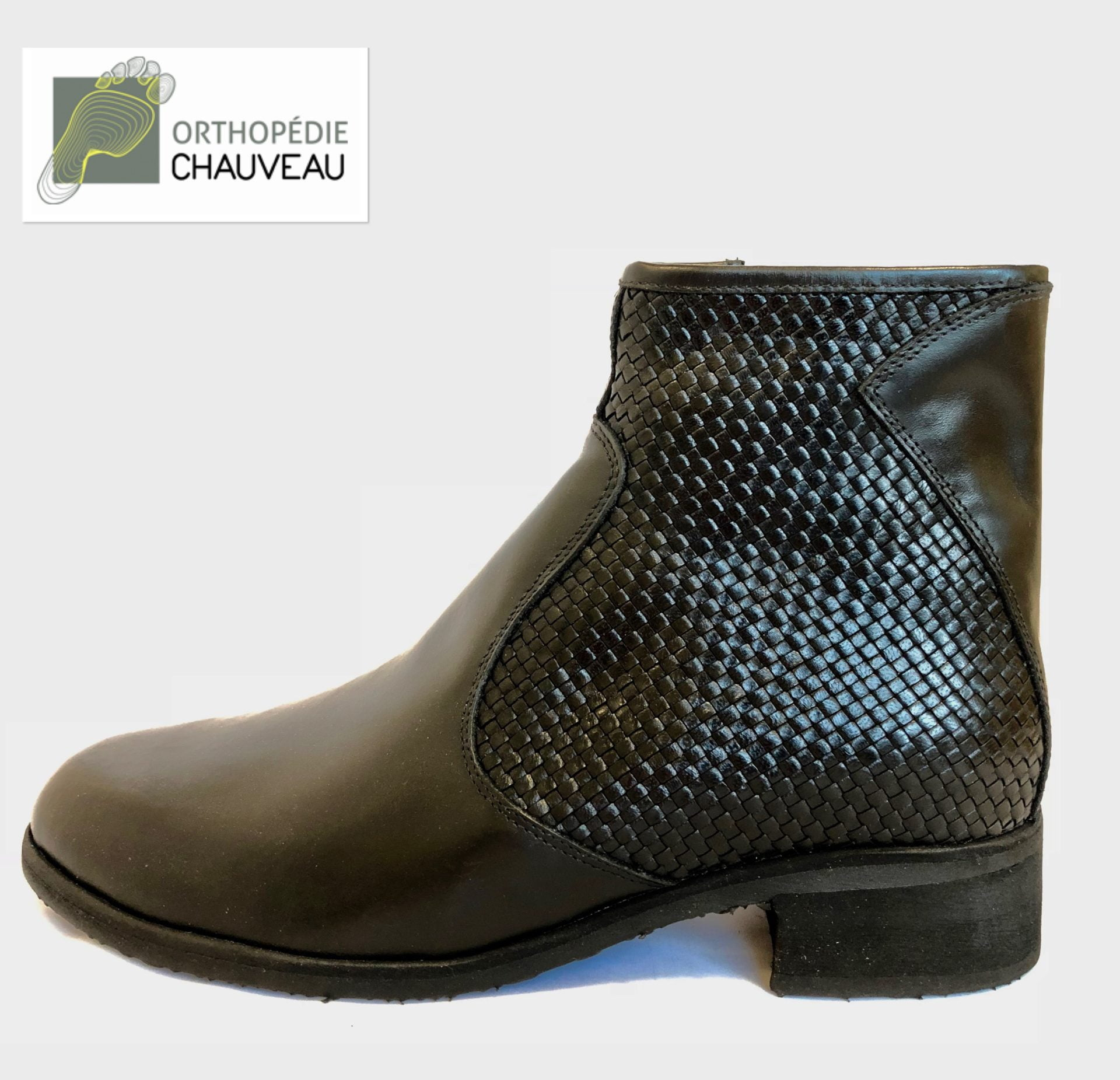 chaussures orthopediques Rennes cuir noir