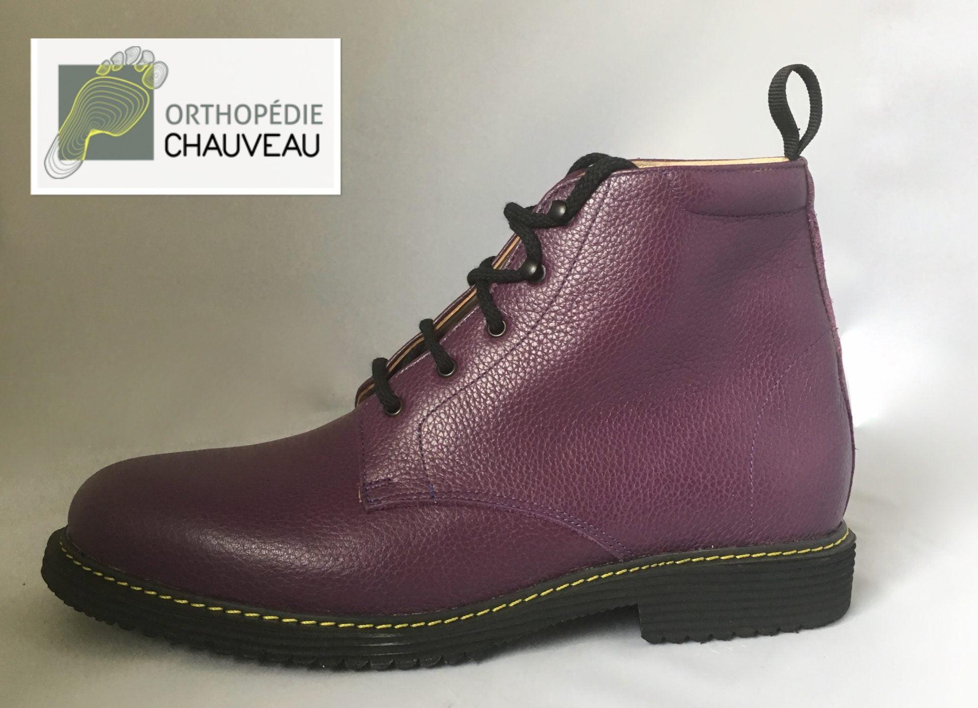 chaussures orthopediques Rennes docmartins violet