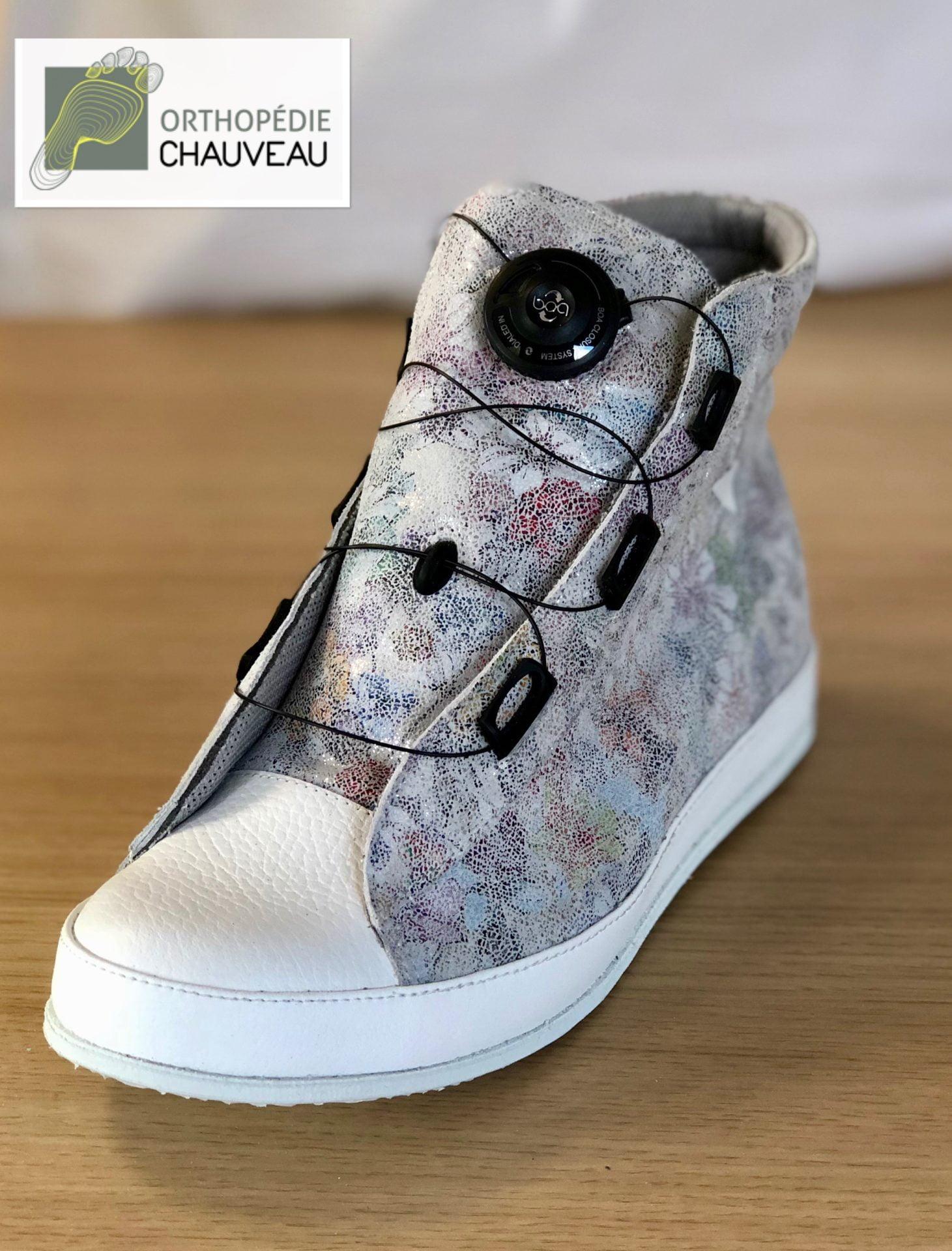 chaussures orthopediques Rennes fermeture une main