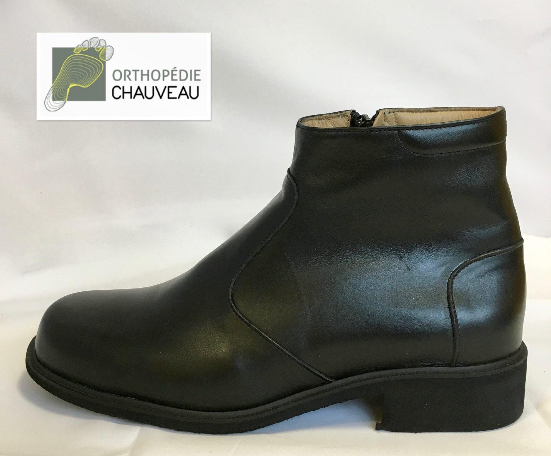 chaussures orthopediques Rennes noir cuir