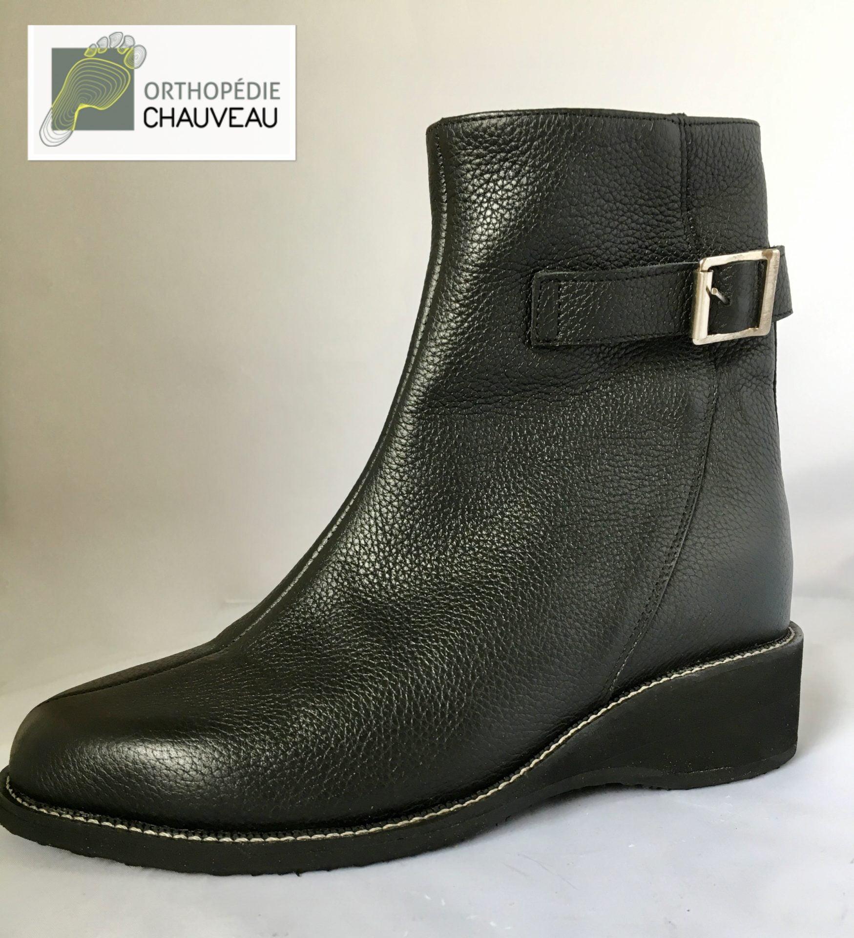 chaussures orthopediques Rennes st malo bottines noir
