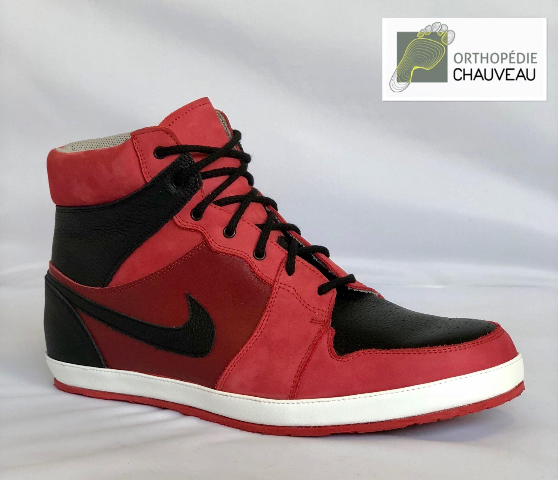 chaussures sur mesure rennes st malo nike rouge